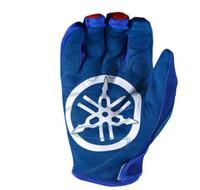 Wholesale waterproof gloves for motorcycle resale online - Hot Motocross Glove for yamaha Racing Blue Moto Motorcycle Gloves Dirt Bike ATV Moto MX Gloves E