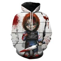 Wholesale scar cosplay for sale - Group buy New Chucky Scarred Good Guy Doll D Print Sweatshirt cosplay hoodies fancy Halloween dress