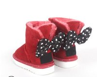 Wholesale girls character shoes for sale - Group buy Snow Boots Designer Kids Shoes Genuine Leather Booties with Big Bow Cartoon Character Style Snow Boots for Girls High Quality Botas