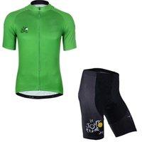 тур франшизы короткие рукава велосипедные майки оптовых-TOUR DE FRANCE team Мужская одежда для велоспорта с коротким рукавом и шортами для велоспорта Велосипедная одежда 53173