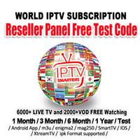 wifi tv box großhandel-IPTV-Abonnement mit über 6000 Sendern IPTV-Abonnement Europa Französisch USA CA Großbritannien Deutschland Italien iptv Für M3U Mag Android-TV-Box Smart TV