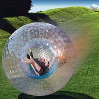 zorbing balls toptan satış-Kaliteli Zorb topu şişme top Zorbing oyuncaklar İnsan hamster top 3 M veya 2.5 M PVC veya kar kış için TPU