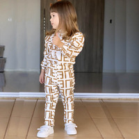 çocuklar iç çamaşırı pijama toptan satış-Ins kızlar çocuklar pijama pamuk çocuklar pijama suits kızlar pijama setleri çocuklar giysi tasarımcısı kızlar pijama çocuk iç çamaşırı bebek pijama A7048