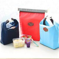 kinder thermische mittagessen tasche großhandel-6styles Outdoor Lunch Bag Kinder Picknicktasche Lunch Pouch Tragetasche Behälterwärmer Kühltasche Thermoreise Tragetaschen FFA2841