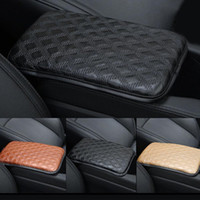 Wholesale auto leather seat pad for sale - Group buy New Car Seat Armrests Cover Leather Pad Center Console Auto Seat Armrests Box Mat Auto Vehicle Protective Soft Mats Car styling