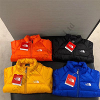 Wholesale design clothes for kids for sale - Group buy Winter Kids Zip Hoodie Clothes Lightweight Children s Down Jacket For Boys Girls Outdoor Casual Coat The North Design Face Outerwear C102507