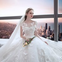 Wholesale pregnant brides wedding dresses for sale - Group buy Bride Dresses Big Size Slender Tail Princess Dream Wedding Dream Pregnant Women Cover Abdomen