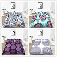 Wholesale beautiful kids beds resale online - Comforter Bedding set Kids Quilt Cover Set with Beautiful Mandala for Home Textile Soft Comfortable King Size of Bed Set