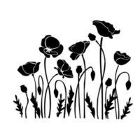 aufkleber mohn großhandel-Mohnblumen-Blumen-Schönheits-Versuchungs-Dekor-Auto-LKW-Motorrad SUVs Stoßfenster-Abziehbild-Aufkleber