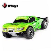 wltoys cars achat en gros de-L'original Wltoys Rc Car A969 1/18 Scale Toys 2 .4g 4wd 50km / H Dérive Dérive Parcours Court Distance Contrôle 4 -Amortisseur de Roues