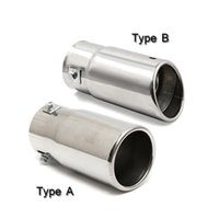 Wholesale universal car trim resale online - Universal Car Auto Vehicle Chrome Flat Exhaust Pipe Tip Muffler Steel Stainless Trim Tail Tube