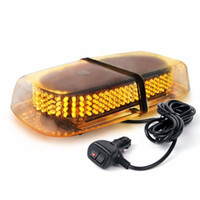 mini luz estroboscópica ámbar al por mayor-Ámbar 240 LED Ley Camión Cumplimiento del coche Peligro de emergencia Advertencia de la policía Baliza LED Mini Bar Snow Plow Seguridad Flash Luz estroboscópica