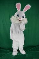 traje de coelho de páscoa venda por atacado-2019 lojas de fábrica de coelho da páscoa mascote traje de fantasia animais engraçados bugs coelho mascote tamanho adulto coelho traje da mascote