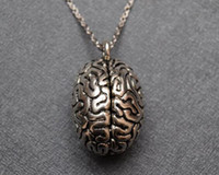 Wholesale brain pendant for sale - Group buy Fashion Jewelry Vintage Silver Brain necklace anatomy realistic d brain Pendant Necklace Jewelry good friend clavicle chain Gift