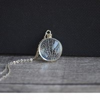 Wholesale kabbalah jewelry for sale - Group buy Kabbalah Tree Of Life Leaf Vein Real Flowers Pendant Sterling Silver Chain Necklace Women Choker Boho Fashion Jewelry J190531