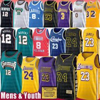 23 basketball groihandel-Ja 12 Morant LeBron 23 6 James Basketball Jersey 8 Anthony 3 Davis Kyle 0 Kuzma Bryant Trikots NCAA Earvin neue 32 Johnson