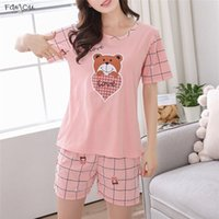 Wholesale sleepwear for girls for sale - Group buy Summer Young Girl Short Sleeve Cotton Sleepwear For Cute Nightshirt Casual Home Service Short Sleepwear Letter Women M Xl