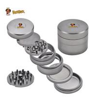 Wholesale end grinders resale online - High end Smoke Grinder mm Layer Aviation Aluminum Material Grinder