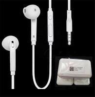 fones de ouvido controles de volume de microfone venda por atacado-S6 fones de ouvido fones de ouvido fones de ouvido fones de ouvido intra-auriculares para iphone com controle de volume do microfone 3.5mm de ouvido para iphone 5 5s 6 6 s samsung s6