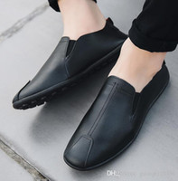 Wholesale old beijing cloth shoes resale online - 2019 new spring summer beanie shoes for men casual leather slacker old Beijing cloth shoes Korean version of fashion men s shoes