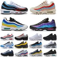 ingrosso vendita di laser-Nike Air Max 95 Classic Scarpe da corsa per uomo Donna Pull Tab Nero Marrone White Slate Blue Sports Mens Sneakers da ginnastica Designer Shoe Size 36-45