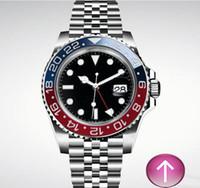 ingrosso mens orologio rosso blu band-SRX8-Hot vendita 2019 meraviglioso rosso e blu colore misto nero banda meccanico automatico mens orologio da polso di lusso