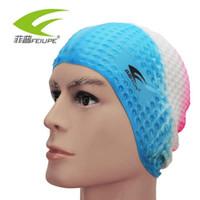 unisex kısa saç toptan satış-FEIUPE Esnek Silikon Su Geçirmez Yüzme Kap Mayo / şapka Kapak Erkekler kadınlar için kulak Yetişkinler Unisex Yetişkin uzun kısa saç