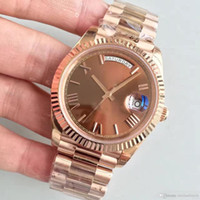 Wholesale steel digital resale online - Watch MM Roman Digital Dial CT Rose Gold Shell Chocolate Series Automatic Mechanical Movement Sapphire Glass Headband Stra
