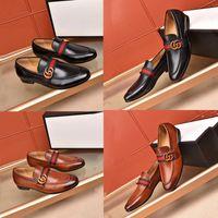 vestido sapatos negócio oxford venda por atacado-Sapatos de Vestido Formal de alta qualidade Para Gentil marcas Homens Sapatos De Couro Genuíno Apontou Toe Mens designer de Negócios Oxfords Sapatos Casuais Tamanho 45