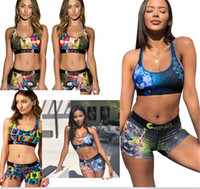 Wholesale tank tiger resale online - Ethika Swimsuit Womens Bra Bikini Set Shorts Swimsuits Sexy Animal Cartoon Dog Lion Tiger Beachwear Vest Tank Berifs Swimwear Suit C6304