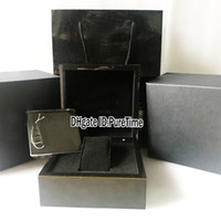 Wholesale womens watches gift boxes resale online - Hight Quality RM BOX Black Leathe Watch Box Mens Womens Watches Original Box With Certificate Gift Paper Bags For Puretime