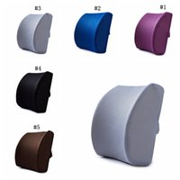 Wholesale office chair car resale online - New Memory Foam Lumbar Cushion Travel Pillow Car Chair Back Support Travel Pillow office Lumbar Cushion MMA2004