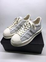 bottes de cuero al por mayor-Nuevos zapatos de diseño de lujo para hombre de calidad superior de cuero real Owens Mastodon Pro Model RO Pearl zapatillas de deporte casuales para mujer tamaño 35-45