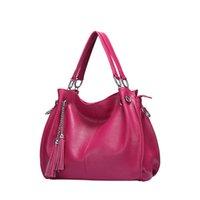 большие женские сумки неподдельной кожи оптовых-Bolsos Mujer Luxury Handbags Women Bags Designer 100% Genuine Leather Bag Large Women Handbags  Big Ladies Shoulder