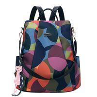 neue rucksackformen großhandel-Rucksack weibliche neue Leinwand einfach wildes Oxford Tuch Reise weiblichen Rucksack Polyester Gepäck Form vertikale quadratische Form