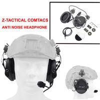airsoft тактические наушники оптовых-Z тактический Sordin гарнитура шумоподавления наушники с быстрым шлемом железнодорожных адаптер для Airsoft охота наушники Z034