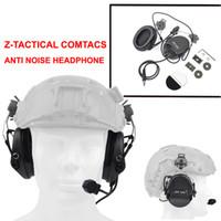 auriculares tácticos airsoft al por mayor-Z Tactical Sordin Auriculares con cancelación de ruido Auriculares Con RÁPIDO Conjunto de adaptadores de riel para casco Airsoft Hunting Headphone Z034