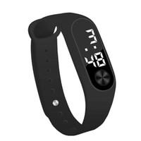 силиконовые электронные спортивные наручные часы оптовых-2019 светодиодные электронные спортивные часы мода Цифровые спортивные часы унисекс Силиконовая лента наручные часы Мужчины Женщины #70