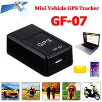 mini gps para coche al por mayor-Nuevo GF07 GSM GPRS Mini coche GPS magnético Anti-pérdida de grabación Dispositivo de seguimiento en tiempo real Localizador Rastreador Soporte Mini tarjeta TF