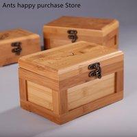 tarjetas de algodón al por mayor-Caja de almacenamiento de tarjetas de visita de bambú Cajas de joyería de madera Bastoncillo de algodón Caja de almacenamiento de llaves Cajas de almacenamiento de regalos