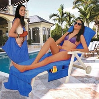 Wholesale summer beds for sale - Portable Beach Lounger Chair Cover CM Beach Towels Picnic Mats Microfiber Sunbath Swimming Wraps Lounger Bed Holiday Garden TTA525
