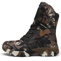 ingrosso migliori scarpe da campeggio-La migliore vendita di sport tattici da esterno per uomo scarpe da trekking da uomo stivali da trekking da uomo stivali antiscivolo impermeabili huntin