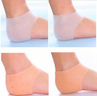 Wholesale monitor foot resale online - 1000pcs Silicone Foot Care Tool Moisturizing Gel Heel Socks Cracked Skin Care Protector Pedicure Health Monitors Massager RRA1955