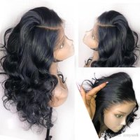Wholesale human hair front part wigs for sale - Group buy Body Wave Deep Part x6 Lace Front Human Hair Lace Frontal Wig Preplucked With Baby Hair Brazilian Remy Wig For Black Women