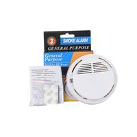 feueralarmsysteme großhandel-Rauchmelder Alarm System Sensor Feueralarm Detected Drahtlose Detektoren Home Security Hohe Empfindlichkeit Stabile LED 85DB 9 V Batterie