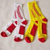 бейсбол чулки носки оптовых-Бейсбольные чулки носки в середине трубки Летние взрослые дышащие носки из полиэфирного волокна мужские носки для отдыха на открытом воздухе спортивные носки Party Favor FFA2478