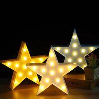 bebekler için gecelik hafif oyuncaklar toptan satış-Güzel Bulut Yıldız Ay LED 3D Işık Gece Lambası Sevimli Çocuklar Hediye Oyuncak Bebek Çocuk Yatak Odası Dekorasyon Lambası Içi ...