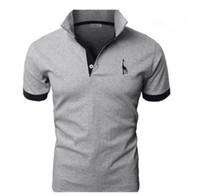 polo elegante para homens venda por atacado-Nova Camisa Polo Para Homens de Luxo Casual Slim Fit Elegante de Manga Curta de Algodão T-shirt