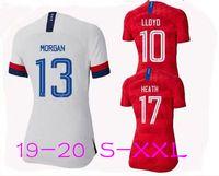damen t-shirt kleider großhandel-American USA Mens Designer T-Shirts Fußball Trikot 2019 2020 American Womens Designer T-Shirts Fußball Trikot Frauen Kleidung Frauen Kleider
