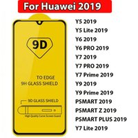 Wholesale y7 plus huawei for sale – best 9D Full Glue Full Cover Tempered Glass For Huawei Y5 Y6 Y7 Y9 Lite Pro Prime Psmart z plus full cover glue phone screen protector